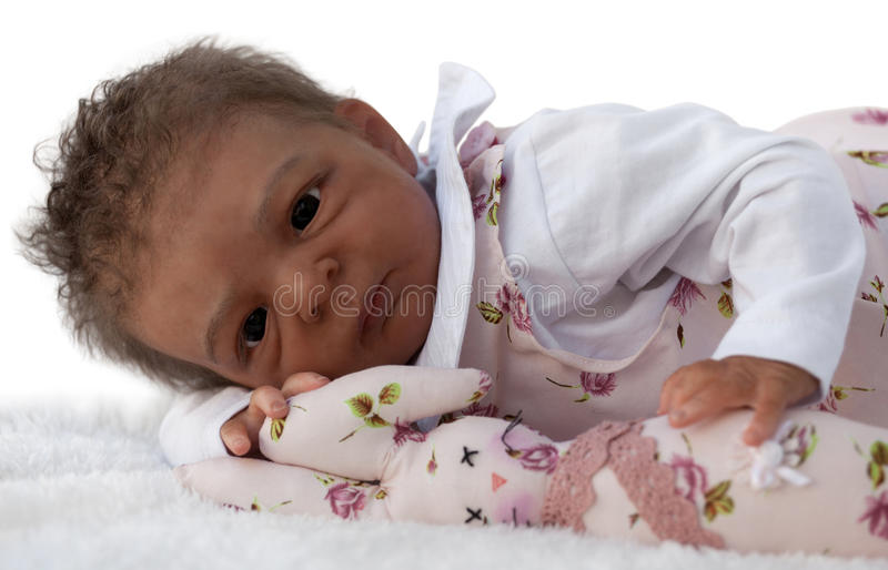 Cute African American Baby stock photography