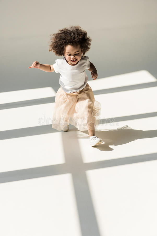 Cute african american baby girl stock images