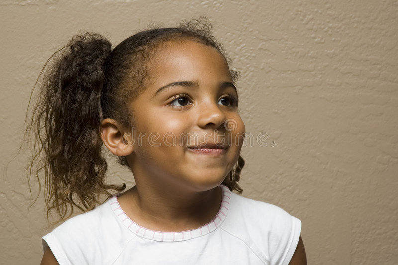 Cute african american child stock photo