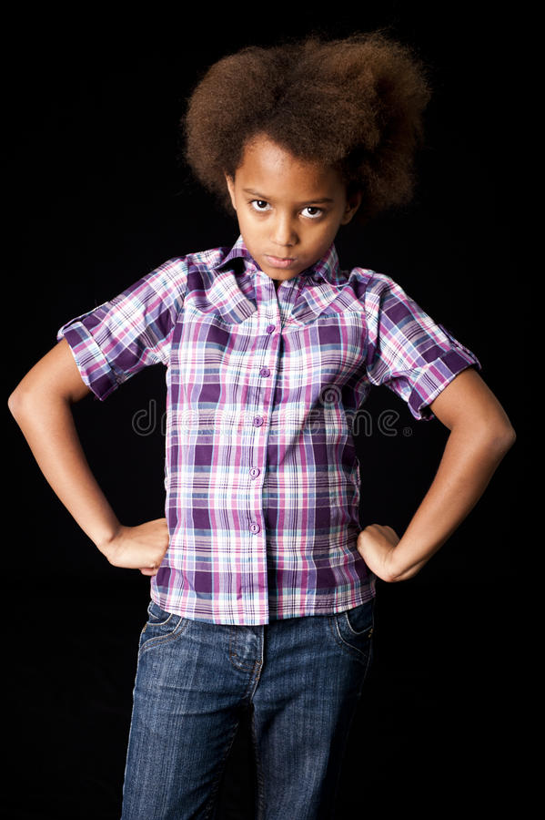 Cute African girl royalty free stock images