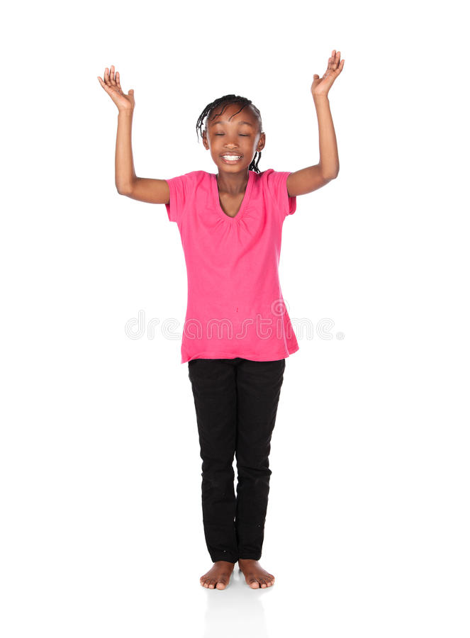 Cute african girl stock photography