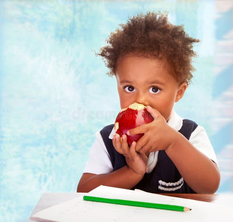 Cute African preschooler royalty free stock image