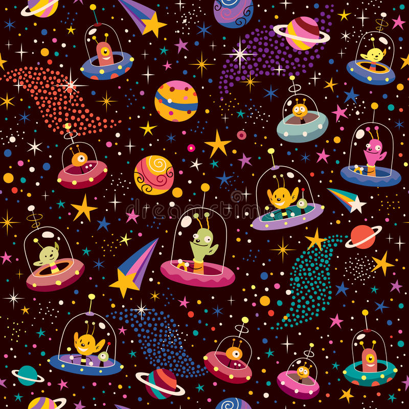 Free Cute Aliens Pattern Stock Photos - 29718483