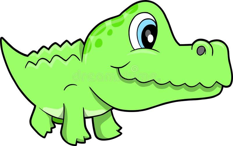 Cute Alligator Vector Illustration Stock Photography