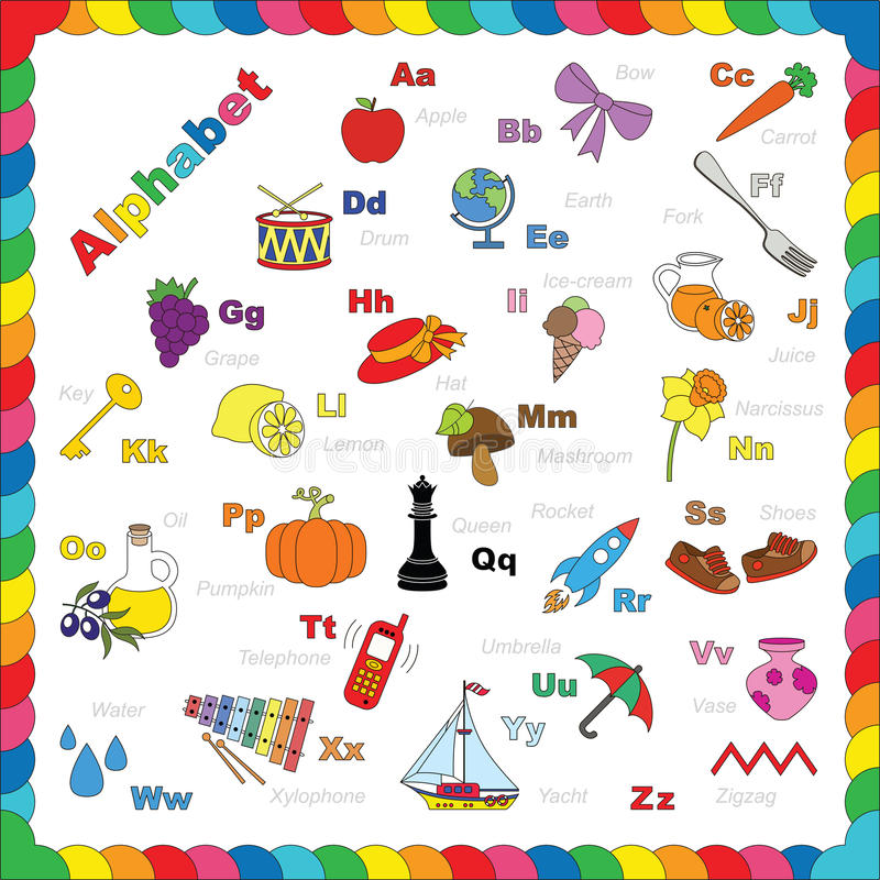 Cute alphabet in vector objects stock vector illustration of download cute alphabet in vector objects stock vector illustration of english letter 59454576 altavistaventures Images