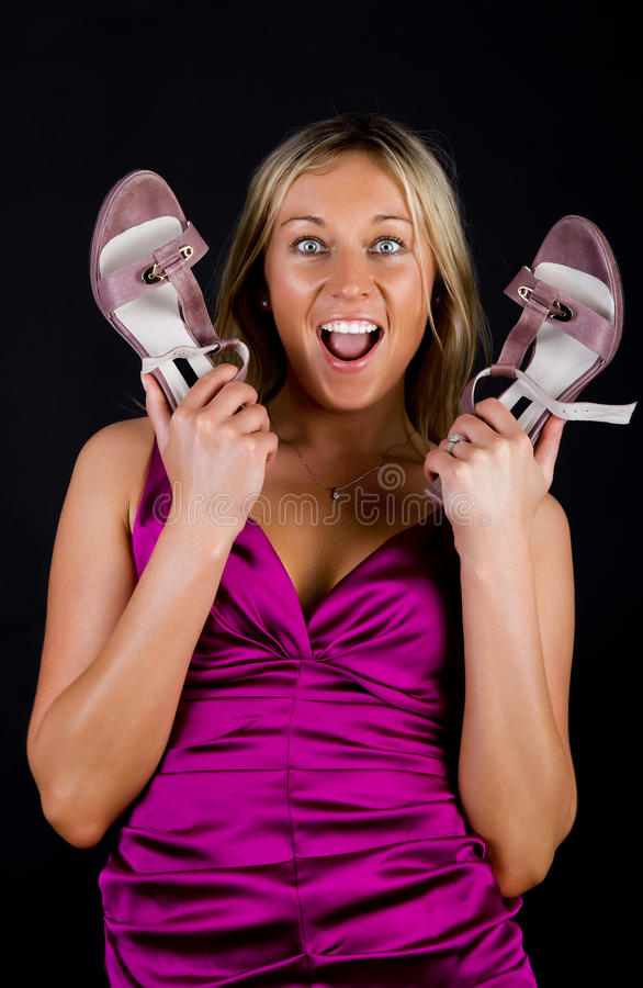 Download Cute amazed girl stock photo. Image of blond, body, champion - 15256614