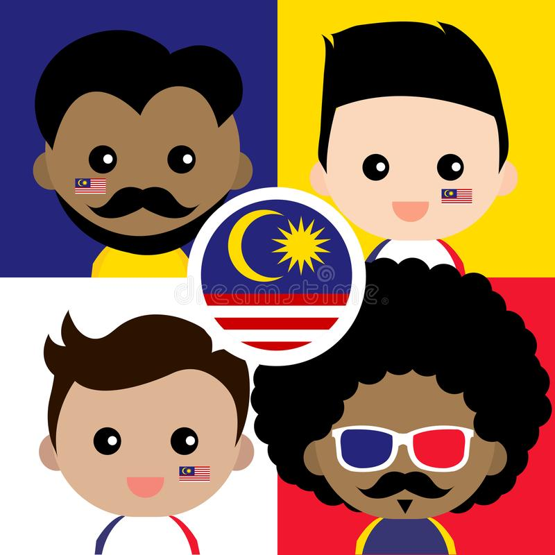 Free Cute And Cheerful Malaysian Supporter Stock Images - 114320514