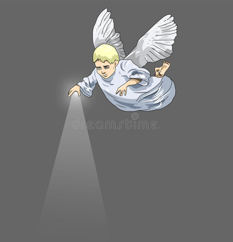 Cute angel boy vector illustration