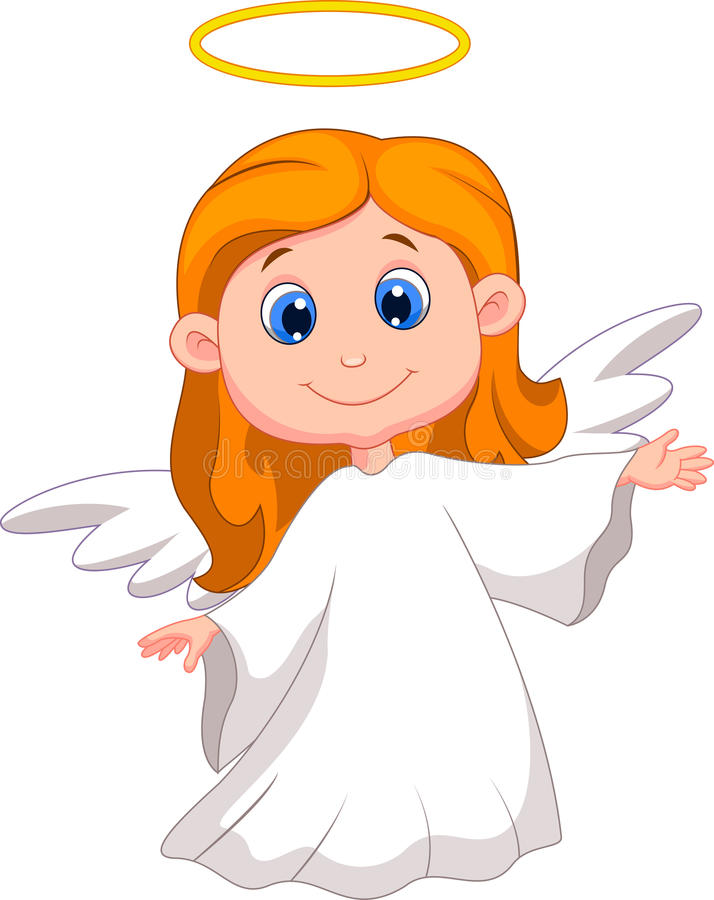 Download Cute angel cartoon stock vector. Image of religion, cute - 33236334