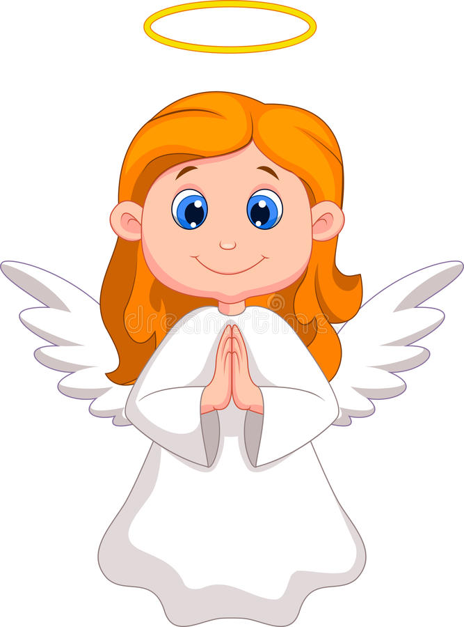 Cute Angel Cartoon Stock Image