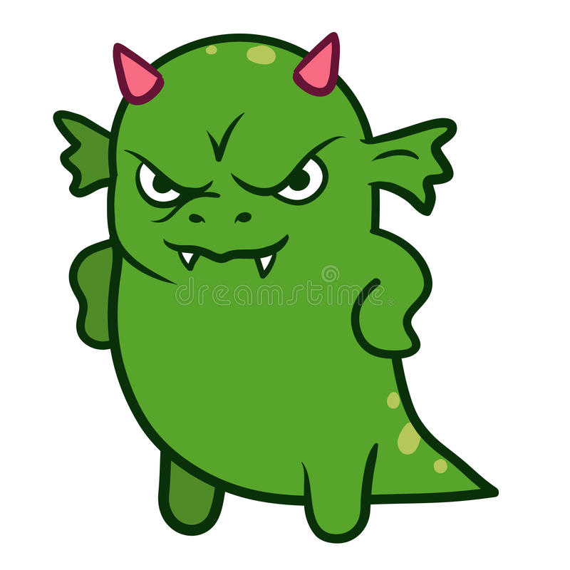 Free Cute Angry Dragon Monster Stock Images - 78279854