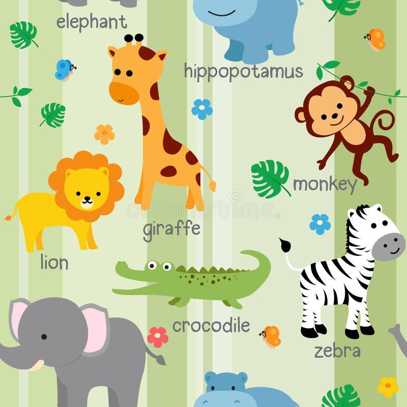 Cute animal pattern stock photography