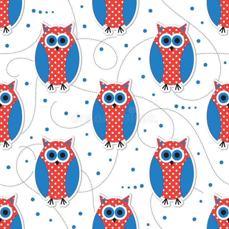 Cute animal seamless pattern royalty free illustration