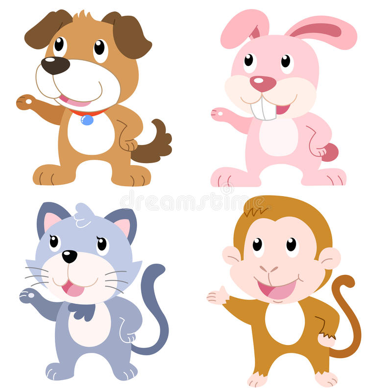 Download Cute animal set stock vector. Image of gesture, animal - 31258657
