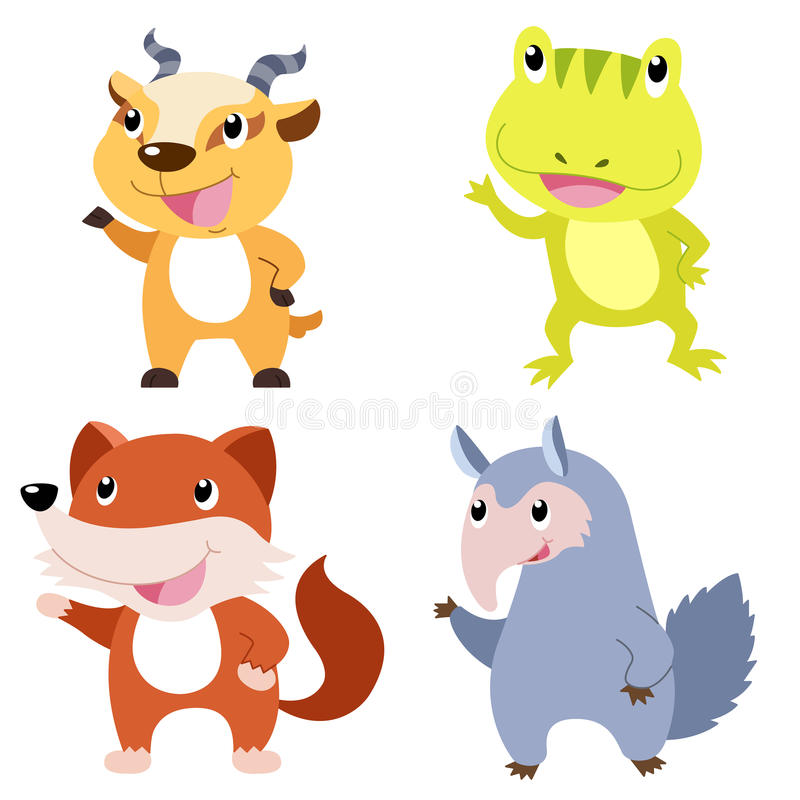 Download Cute animal set stock vector. Image of amphibian, sign - 31258659
