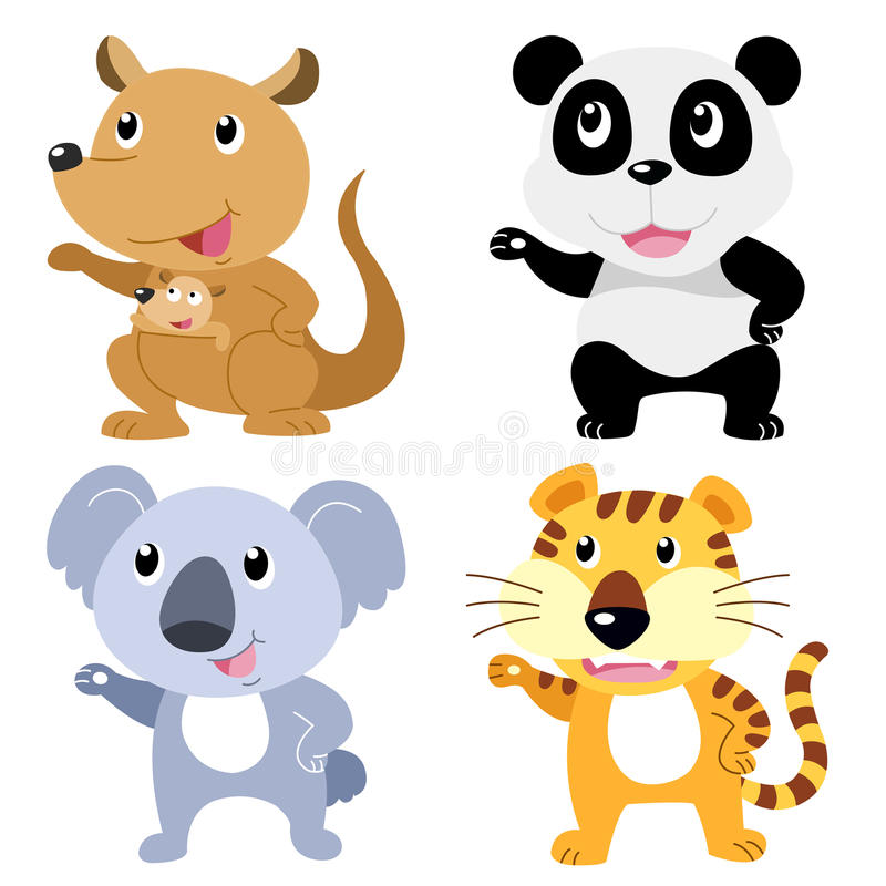 Download Cute animal set stock vector. Image of panda, cheerful - 31258690