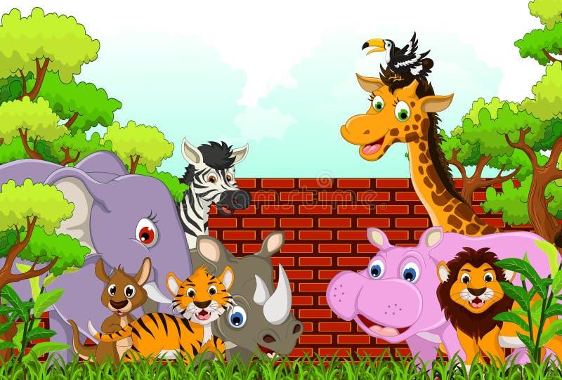 Cute Animal Wildlife Cartoon Royalty Free Stock Photo