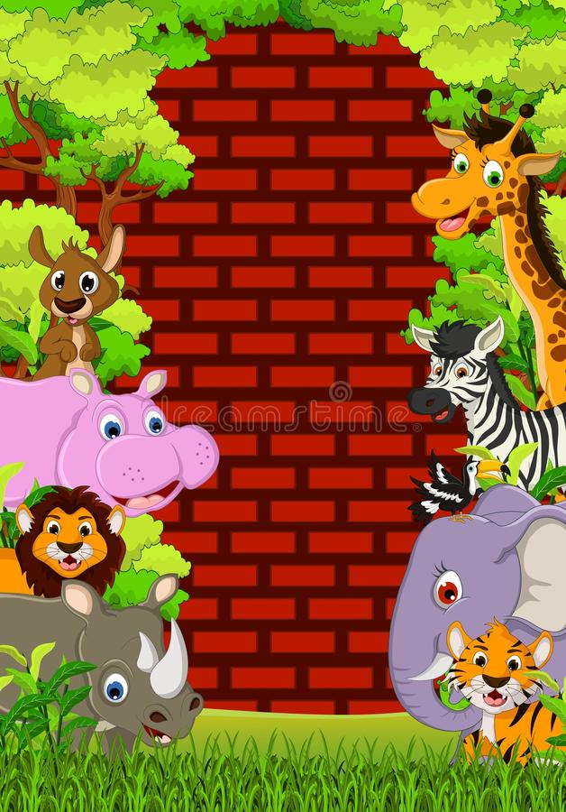 Download Cute Animal Wildlife Cartoon Stock Illustration - Image: 34268919