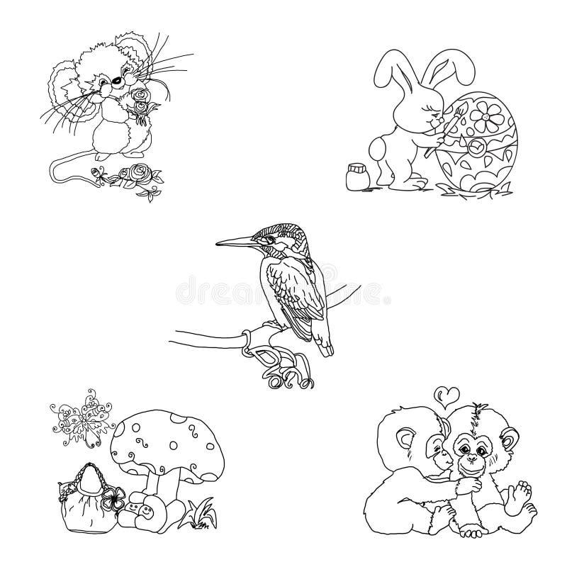 Cute Animalia Stamps stock photos