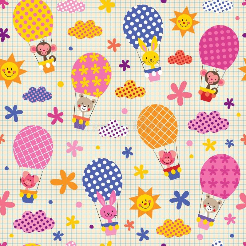Cute animals pattern stock illustration