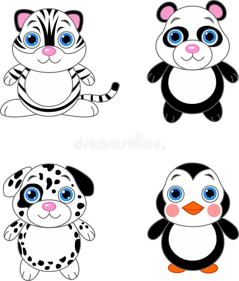 Cute animals set 02 stock illustration