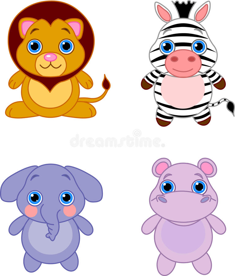 Cute animals set 04 vector illustration