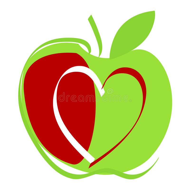 Download Cute apple illustration stock vector. Image of color - 15947001