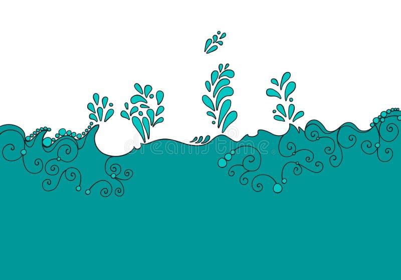 Download Cute aqua background stock vector. Image of clip, drawn - 25658031