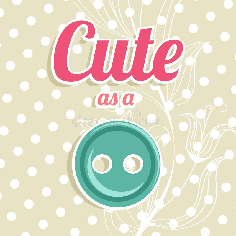 Download Cute As A Button Background Stock Illustration - Illustration of decoration, pink: 37824388