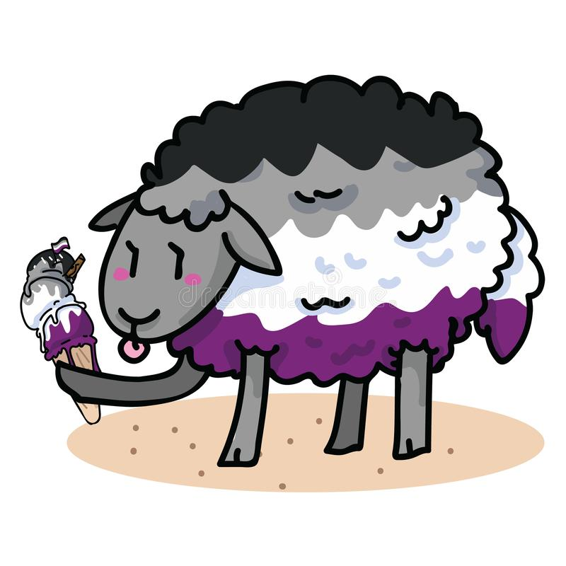 Free Cute Asexual Sheep With Tasty Ice Cream Cartoon Vector Illustration Motif Set. Hand Drawn Isolated Summer Treat Elements Clipart Stock Photography - 153975302