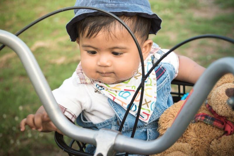 Asian Boy Sitting Alone At Playground Stock Image - Image ...