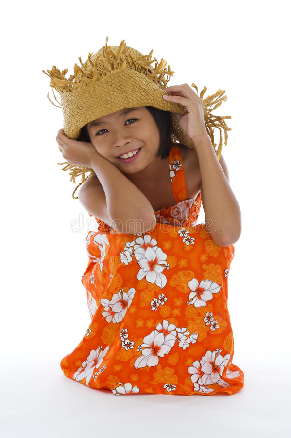 Cute asian girl royalty free stock image