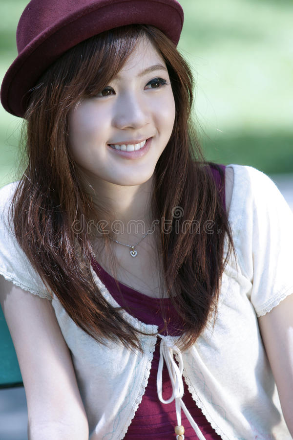 Download Cute asian girl portrait stock photo. Image of model - 23057836