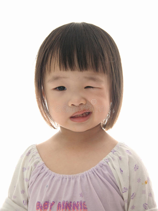 Cute Asian kid stock image