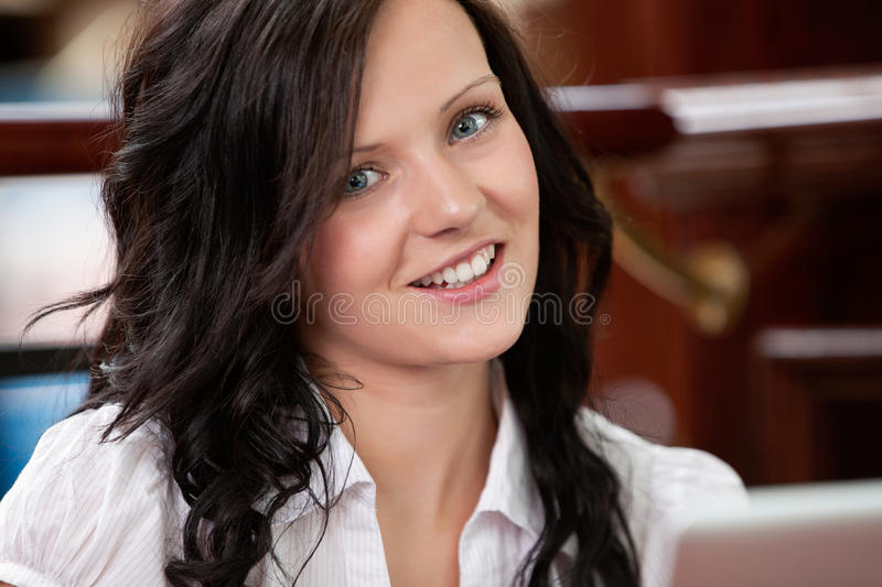 Cute Attractive Female Smiling stock images