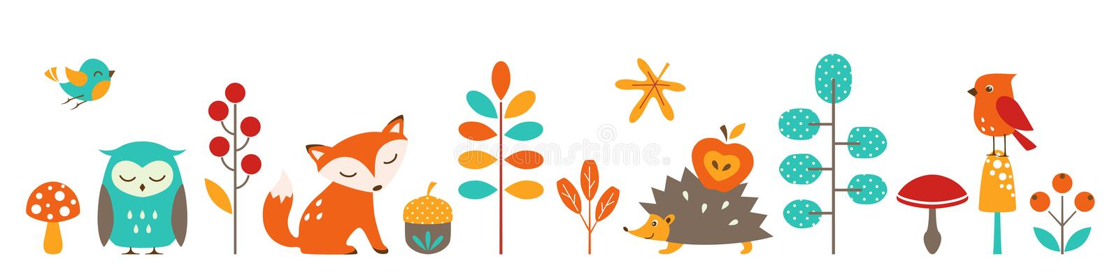 Cute autumn stock illustration