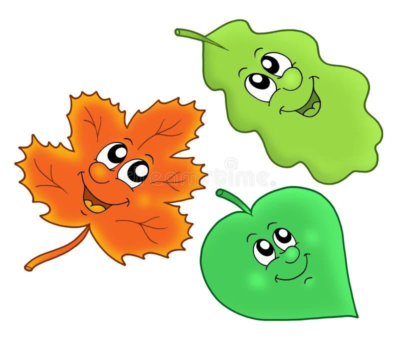 Cute autumn leaves royalty free illustration