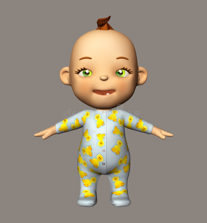 Download Cute Baby stock illustration. Illustration of pretty, green - 5755842