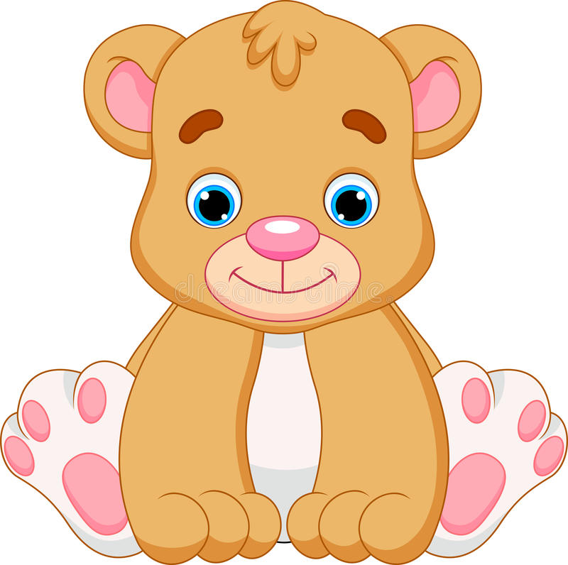 cute baby bear cartoon stock illustration illustration of rh dreamstime com bear cartoon images black and white cartoon polar bear images