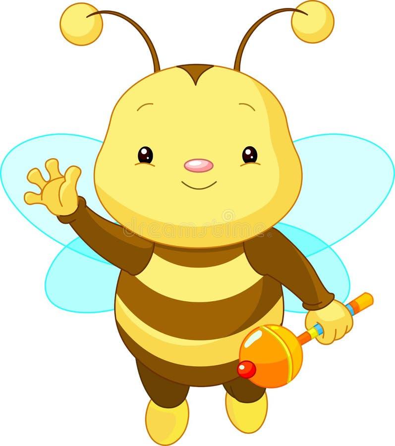 Cute baby Bee stock illustration