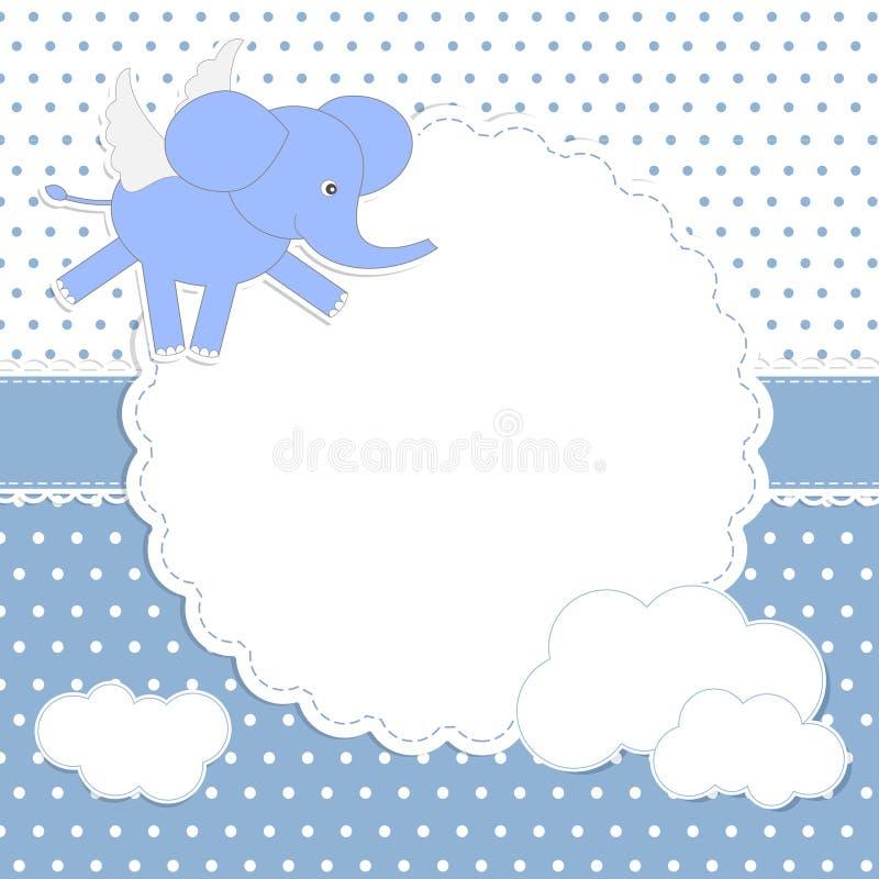 Cute Baby Boy Card Royalty Free Stock Photos