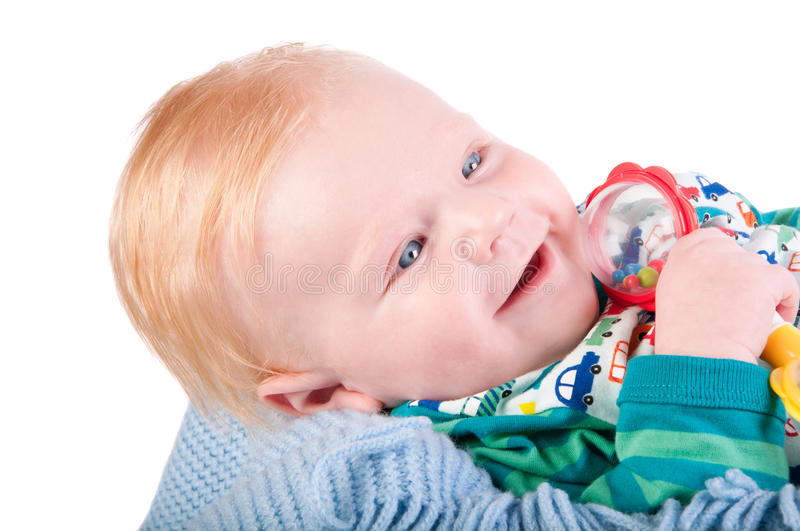 Download Cute Baby Boy's Portrait With Bauble Stock Image - Image: 26856165