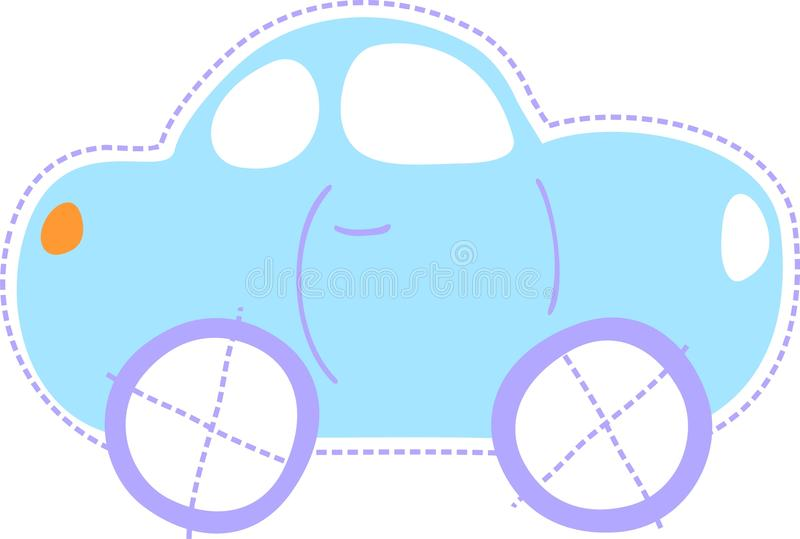 Cute baby car royalty free illustration