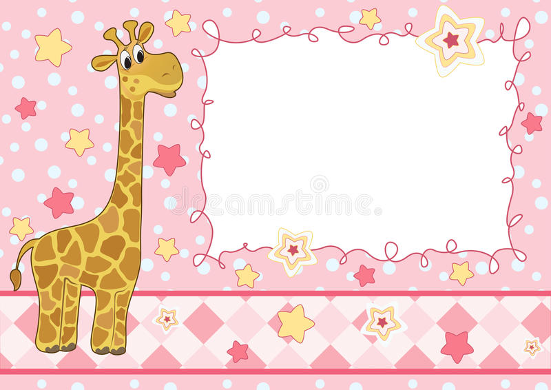 Cute baby card royalty free illustration