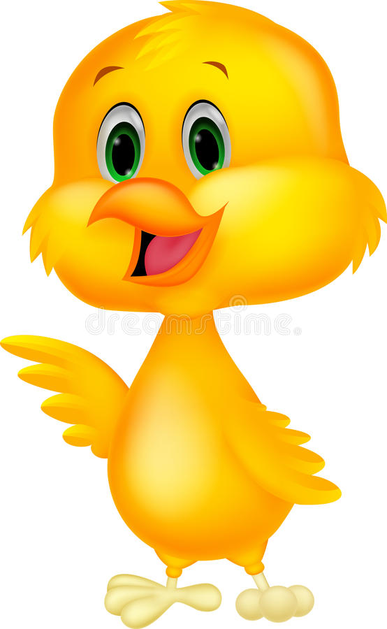Cute baby chicken cartoon royalty free illustration
