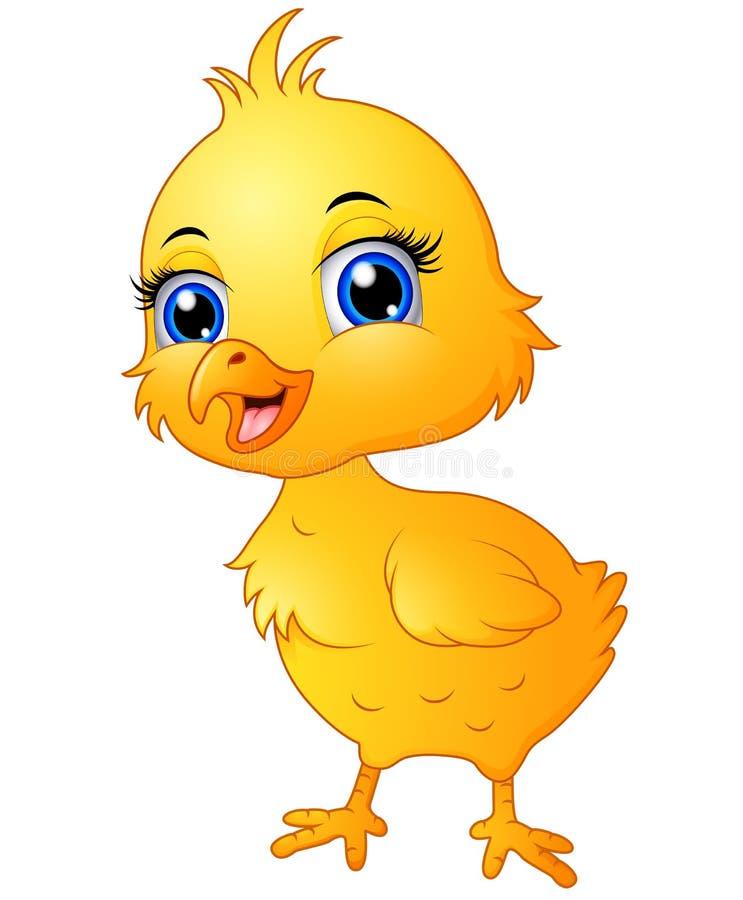 Cute baby chicken cartoon stock vector. Illustration of ...