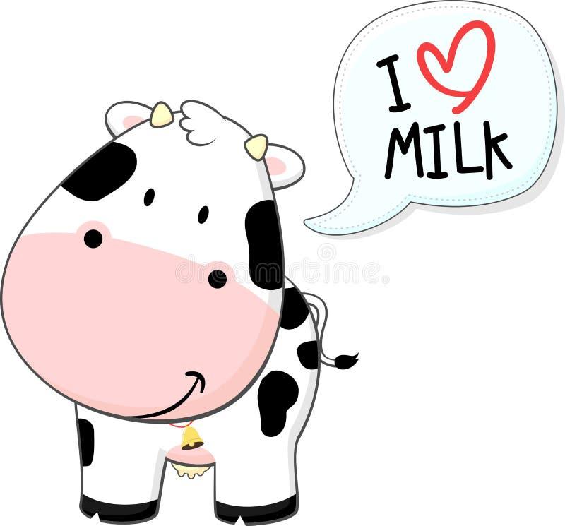 Cute baby cow cartoon stock illustration