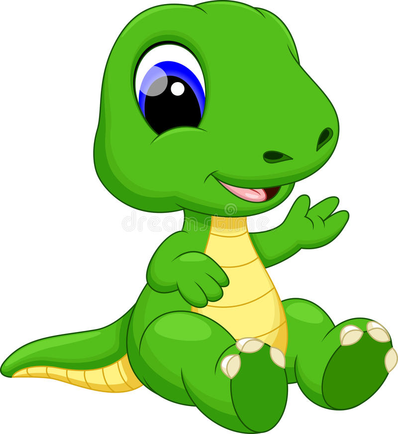 Cute baby dinosaur cartoon stock illustration