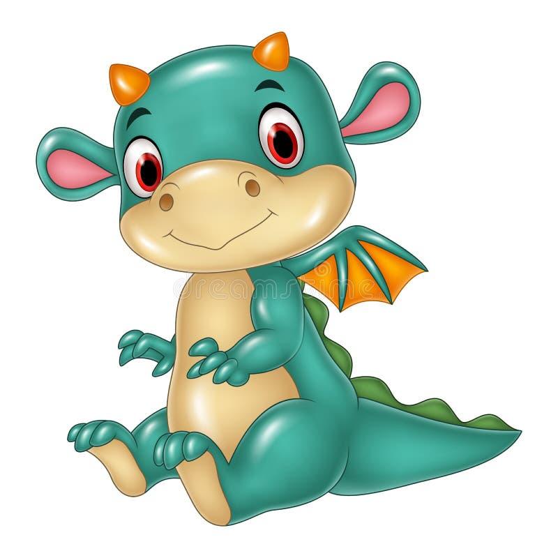Cute baby dragon stock illustration
