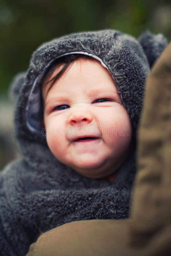 Download Cute Baby Dressed For Winter Stock Image - Image: 36498133
